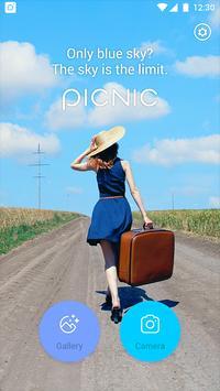 PICNIC - New kamera, magic photo for dark sky poster