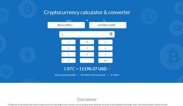 Crypto Exchange Calculator screenshot 1