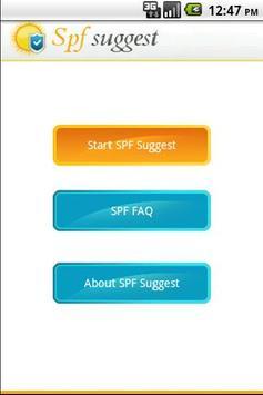 SPF Suggest apk screenshot