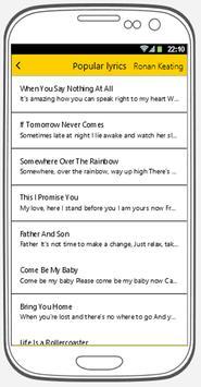 Ronan Keating: Popular song lyrics  for Android - APK Download