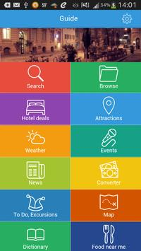 Beijing Guide Hotels & Weather poster