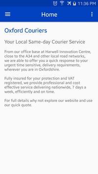 Oxford Couriers apk screenshot