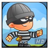 Running robbery man icon