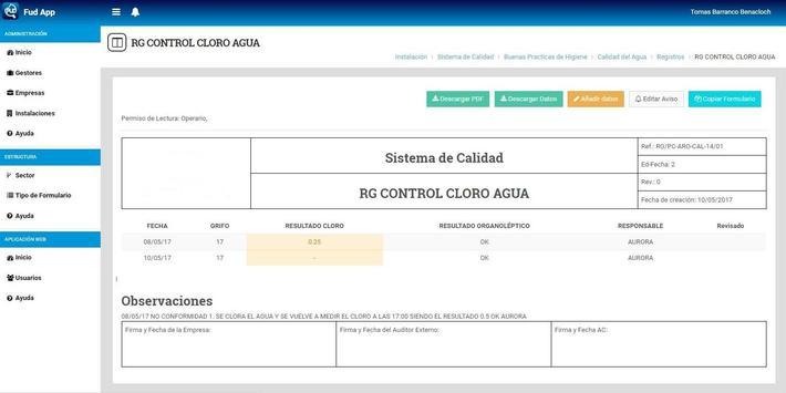 FUD APPCC screenshot 15