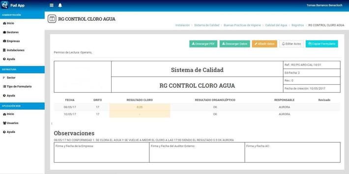 FUD APPCC screenshot 8