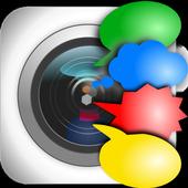 Cam Talks:Speech Bubble Camera icon