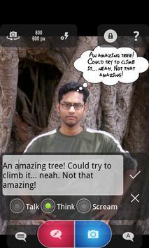Cam Talks:Speech Bubble Camera apk screenshot