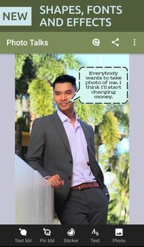 Photo talks: speech bubbles poster