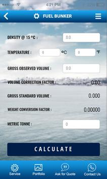 SS:600 Bunker Fuel Calculator apk screenshot