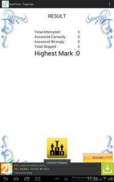 QuizTime - TagLines screenshot 4