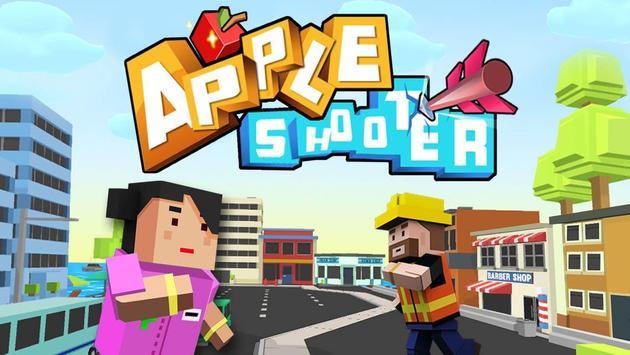 Apple Shooter 3D Pixel poster