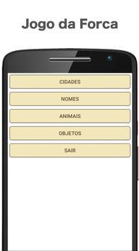 Jogo da Forca - Português apk screenshot