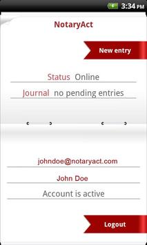 NotaryAct - Notary Journal apk screenshot