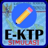 ikon E-KTP Simulasi = Bikin KTP Elektronik Sendiri