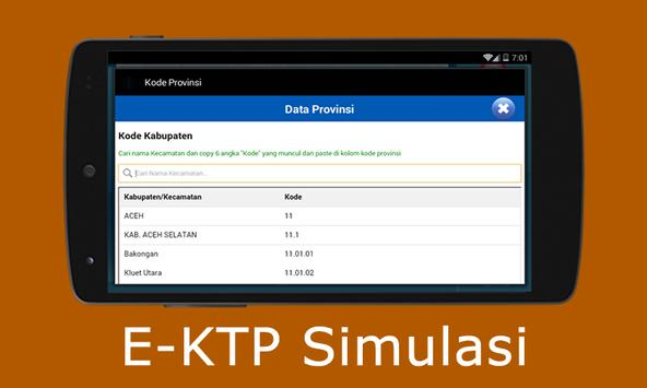 E-KTP Simulasi = Bikin KTP Elektronik Sendiri screenshot 4