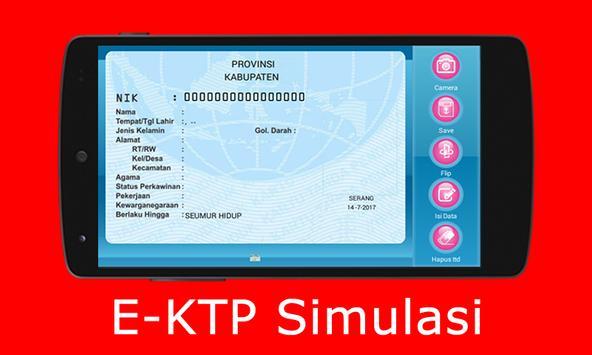 E-KTP Simulasi = Bikin KTP Elektronik Sendiri poster