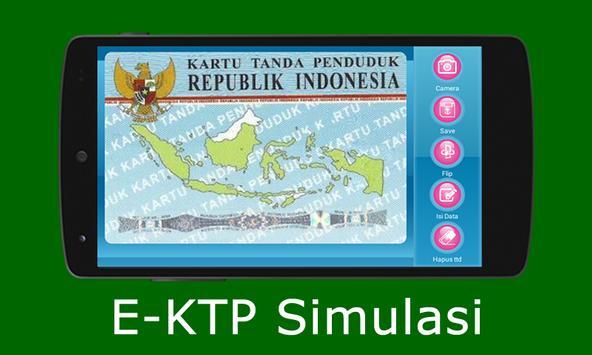 E-KTP Simulasi = Bikin KTP Elektronik Sendiri screenshot 1