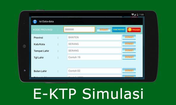 E-KTP Simulasi = Bikin KTP Elektronik Sendiri screenshot 3