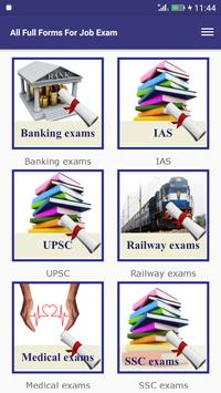 All Full Forms For Job Exam poster