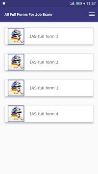 All Full Forms For Job Exam screenshot 1