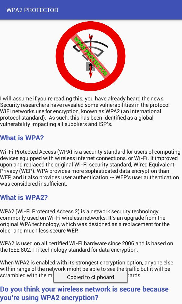 WPA2 PROTECTOR PRO for Android - APK Download