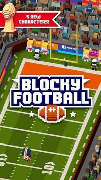Blocky Football poster