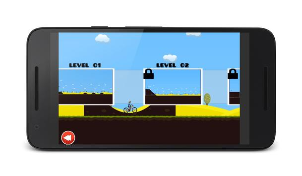 2D Hill Bicycle Climb Racing apk screenshot