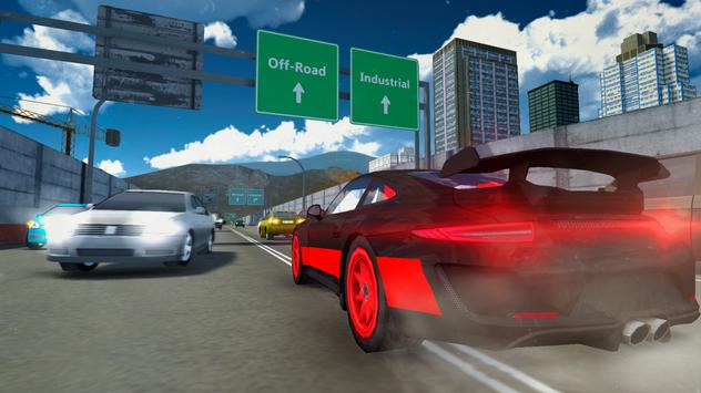 3D Sports Car Driving In City screenshot 2