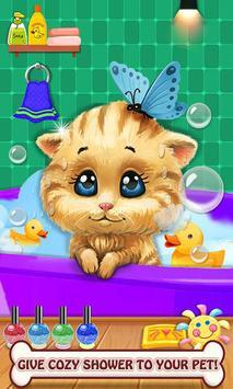 Mascota cuidar animal mascota juegos salón belleza Poster
