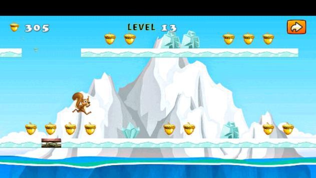 Fun Ice Squirrel Running Age apk screenshot