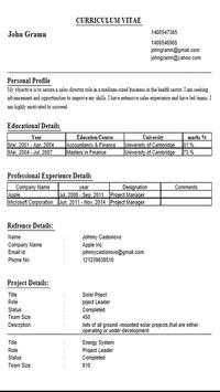 CV Builder apk screenshot