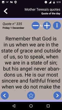 Mother Teresa's quotes screenshot 1