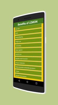 Benefits of Lemon apk screenshot