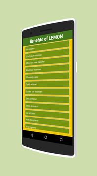 Benefits of Lemon poster