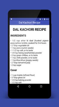 Dal Kachori Recipe Holi apk screenshot
