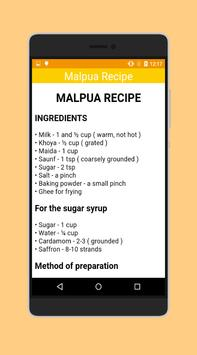 Malpua Recipe (Holi Special) apk screenshot