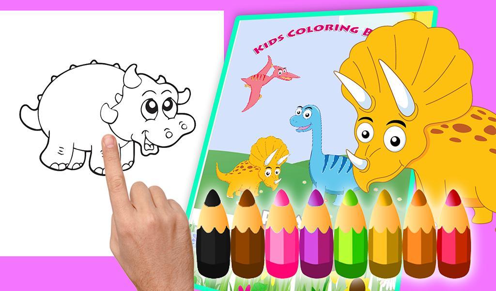 Dinosaur coloring book Educational dinosaur games for ...