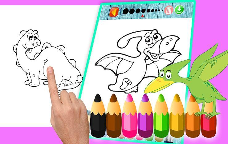 Dinosaurios Dibujos Para Pintar Juegos Para Pintar For Android