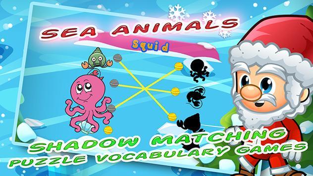 a b c English Santa xmas vocabulary words matching screenshot 1