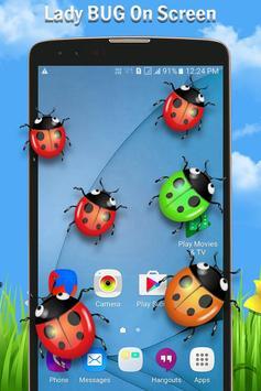 Ladybug on Screen poster