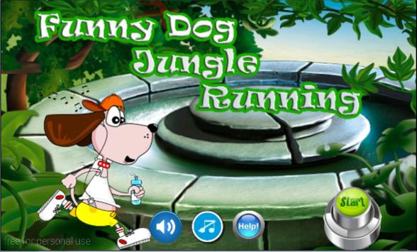 Funny Dog Jungle Running poster