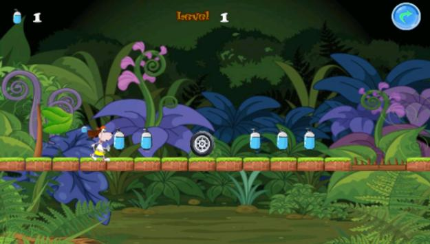 Funny Dog Jungle Running apk screenshot