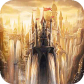 Castle waterfall Live WP icon