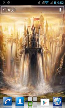Castle waterfall Live WP poster