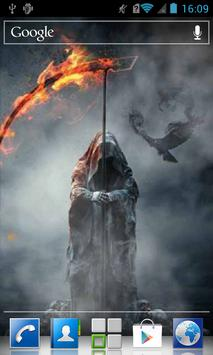 Death with fiery scythe LWP poster
