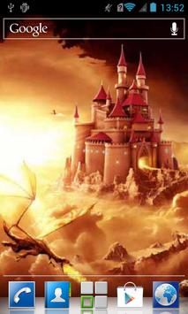 Dragon come to the castle LWP apk screenshot