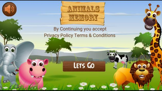 Animals Memory poster