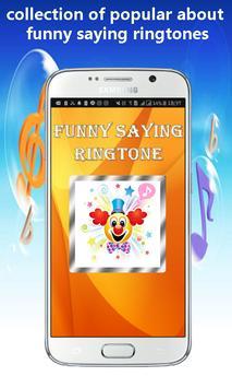 Funny Saying Ringtone poster