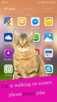 Cat walks on screen phone funny joke screenshot 4