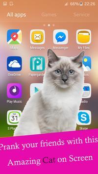 Cat walks on screen phone funny joke screenshot 1